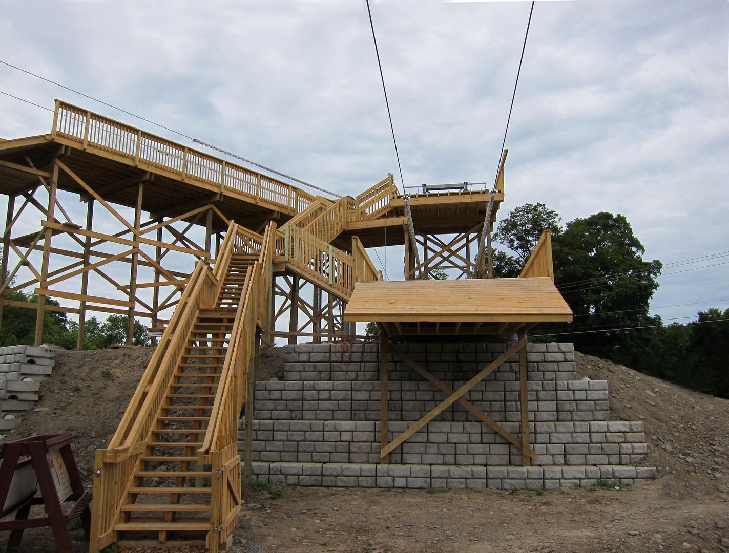 zipline platform construction