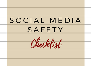 Social Media Safety Checklist Printable