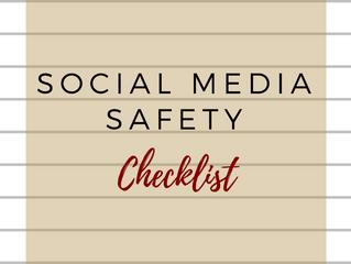 Social Media Safety Checklist Printable