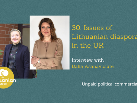 030- Dalia Asanaviciute on issues of Lithuanian diaspora in the UK