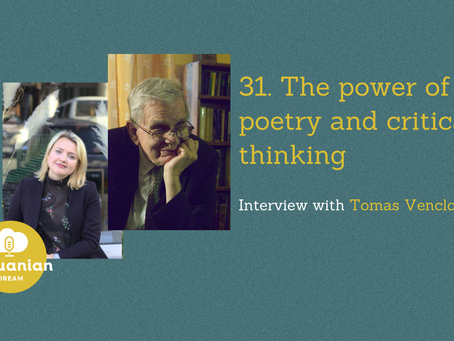 031- The power of poetry and critical thinking with Tomas Venclova