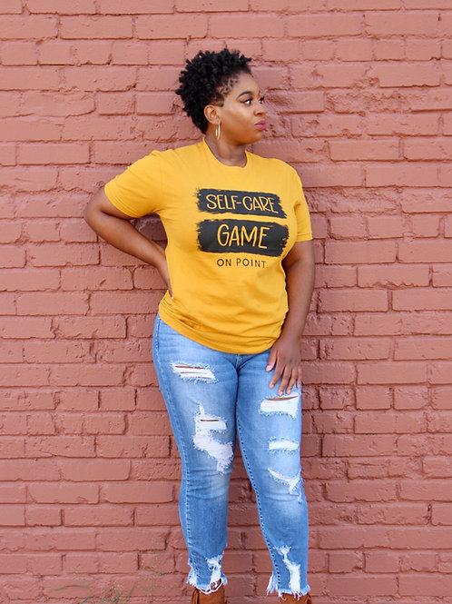 Self-Care Game On Point T-Shirt Antique Gold
