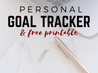 Personal Goal Tracker With Free Printable