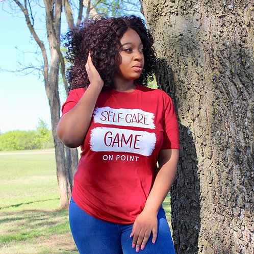 Self-Care Game On Point T-Shirt Cardinal Red