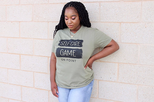 Self-Care Game On Point T-Shirt Light Olive