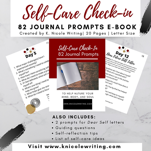 Self-Care Journal Prompts E-Book