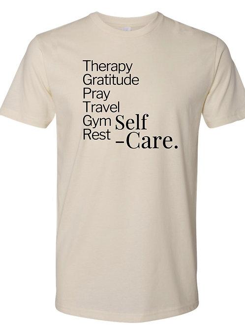 Self-Care List T-Shirt Cream