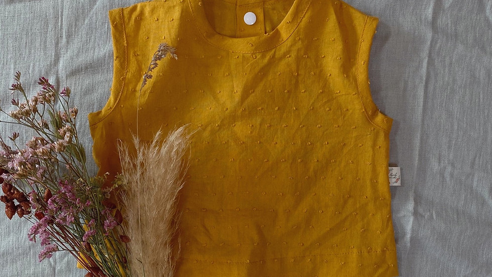 Blouse plumetis moutarde