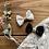 Thumbnail: Duo de noeuds - fleuri et noir