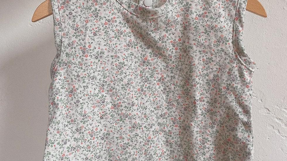 Blouse coton fleuri