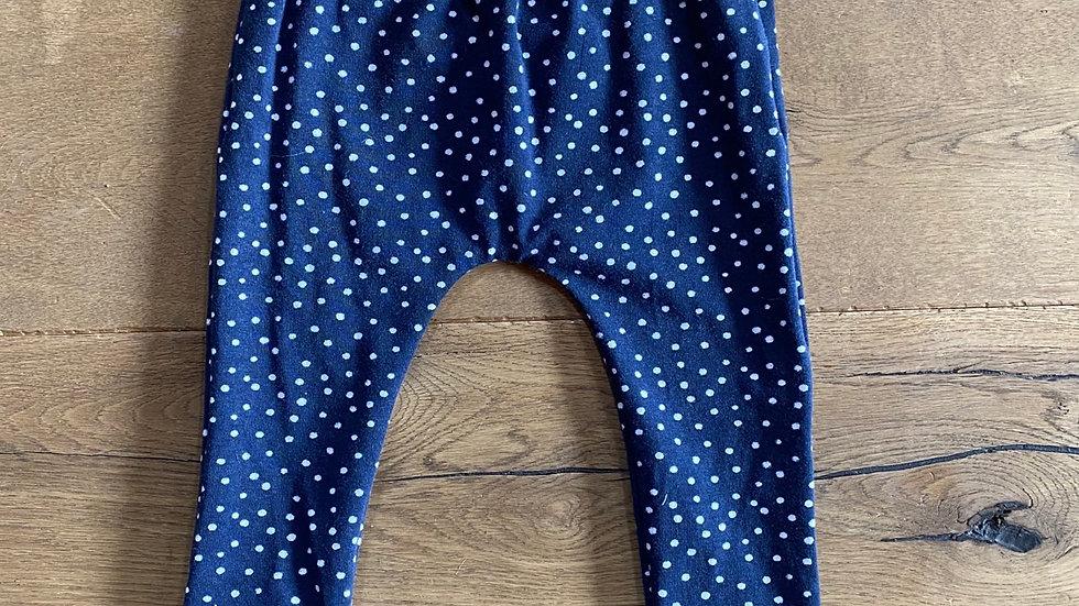 Legging bleu petit pois