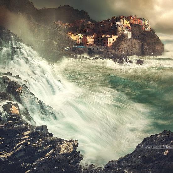Manarola Waterfall