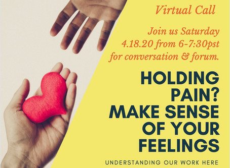Talking emotions w our men this Saturday virtually... join us.