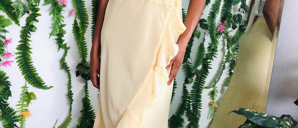 Yellow Vintage Ruffle Skirt