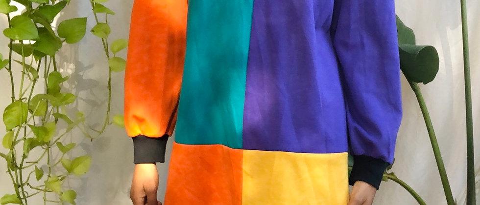 Vintage Colorblock Mini Dress