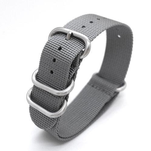 Grey Canvas Watch Strap