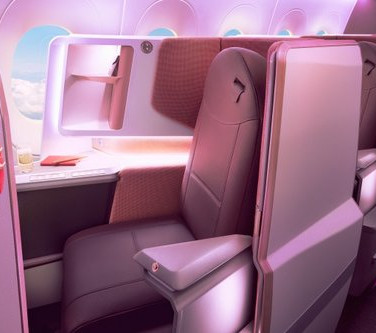 Virgin Atlantic's A350 cabin interior featuring our Sirocco