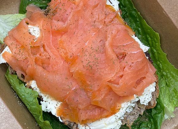 Salmon cream cheese toast (2)
