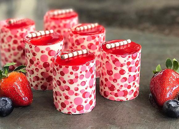 Mini strawberry mousse - 2 pieces