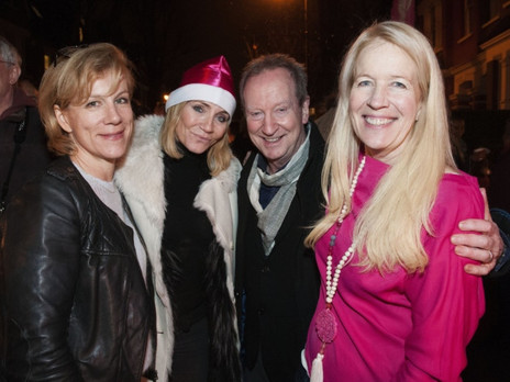 Our Founder, Lindsey Wylie, with our patrons.