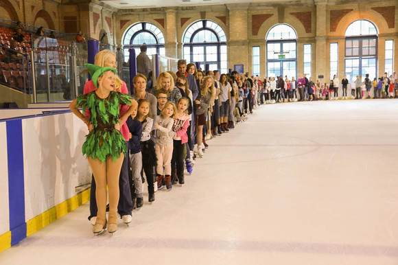 The start of our longest conga on ice