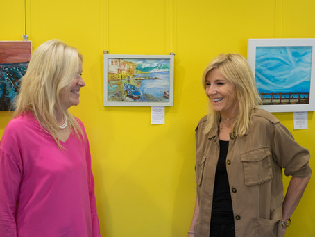 Michelle Collins, Patron, stops by our exhibition