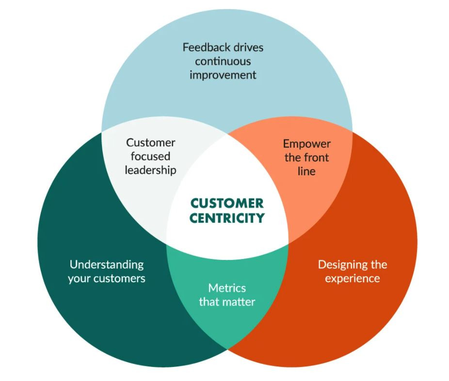 Customer centric strategy diagram