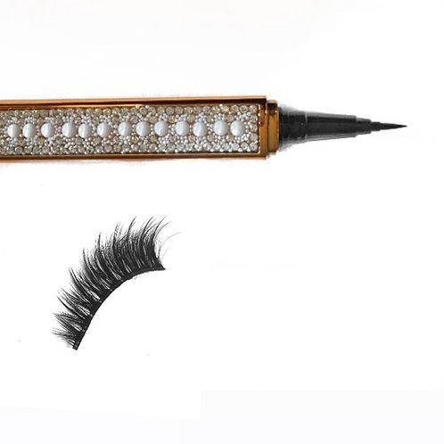 Lash Adhesive Eyeliner Pen & Lash Combo