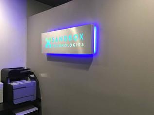 Backlit Box cut sign