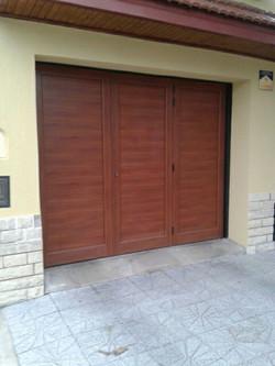 Portón Levadizo Aluminio Color Cedro