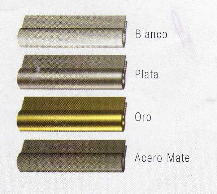 Herrajes en Blanco, Plata, Oro y Acero Mate