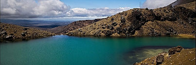 lake in the Tongariro National Park  - North Island