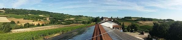 pannelli fotovoltaici con una fantastica visuale sulle lange