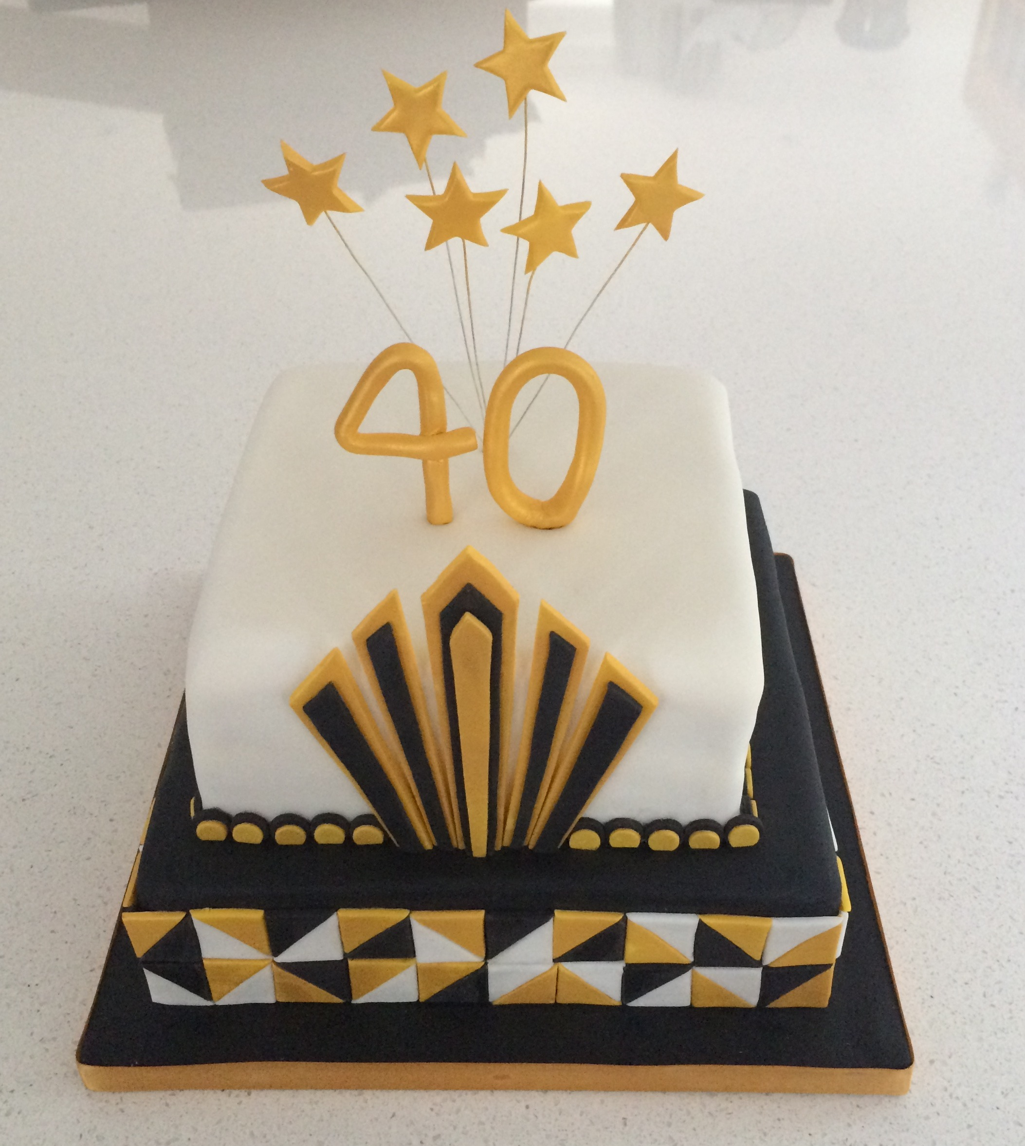40th Cake - Art Deco