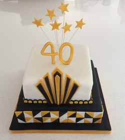 40th Cake - Art Deco