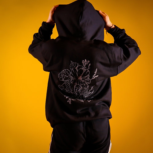 Thrive Floral Zip-Up Hoodie