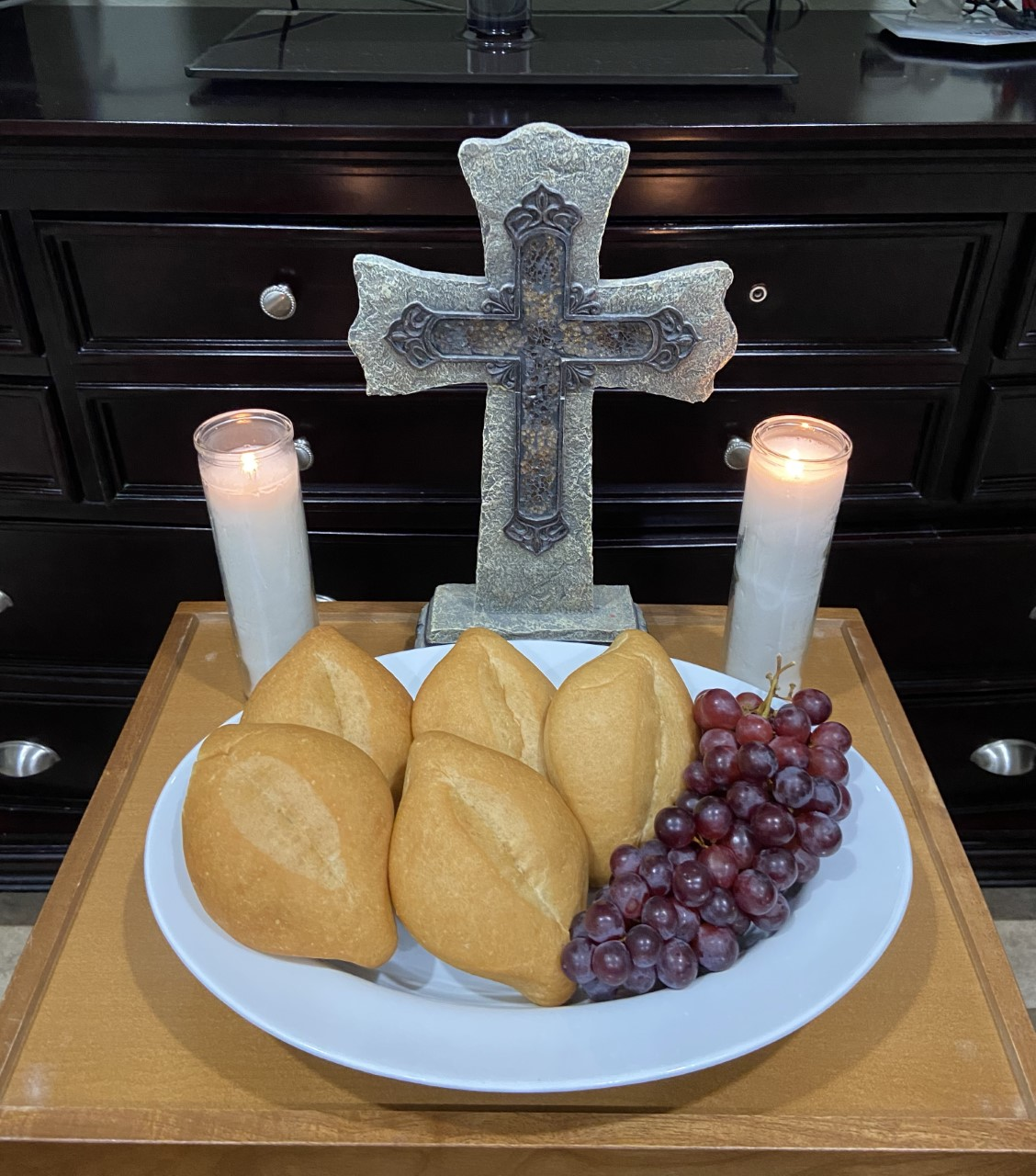 Holy Thursday, Tom & Anna Lee Navarro al