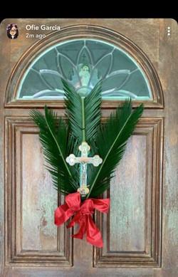 Palm Sunday door decoration