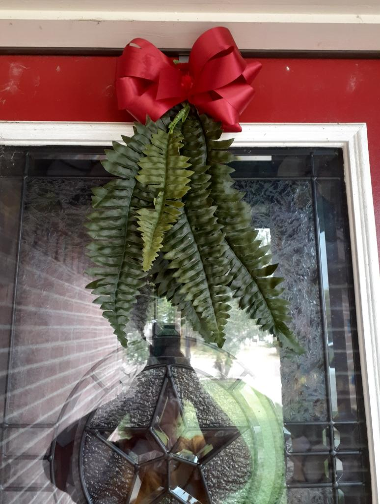 Palm Sunday: Door decoration