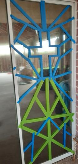 Decorating the Domestic Church window