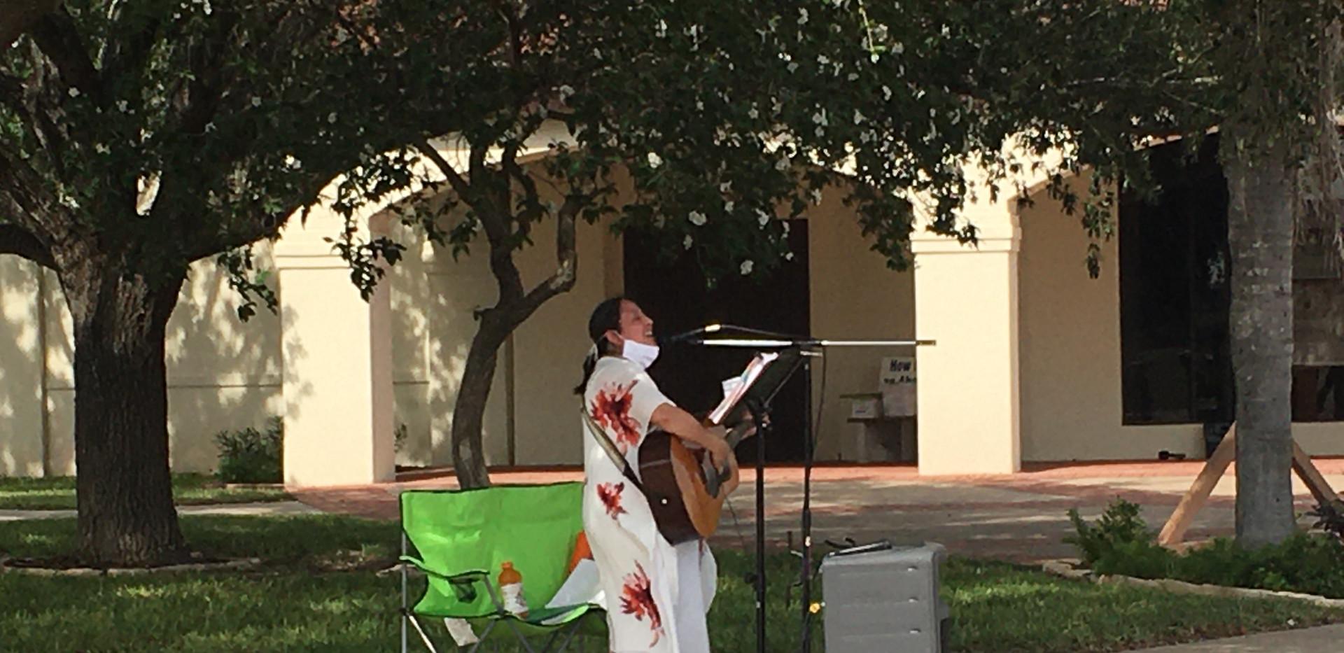 Brandy Tinajero singing