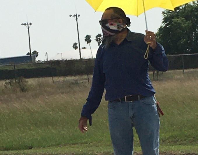 Juan Ortiz guiding parishoners