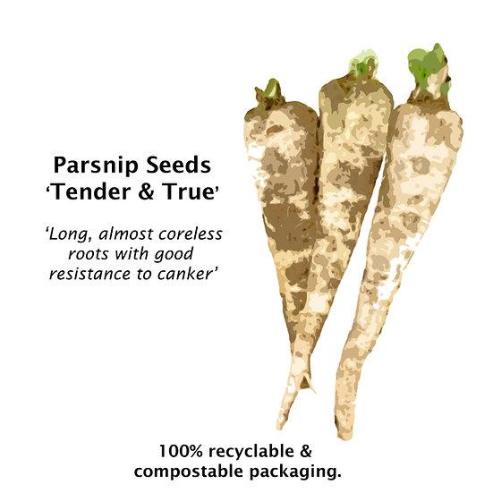 Parsnip Seeds 'TENDER & TRUE' ORGANIC