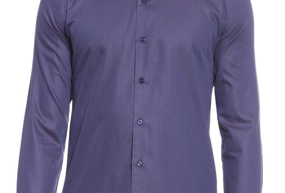 Camisa Ricardo Almeida Navia Texturizada - Roxa