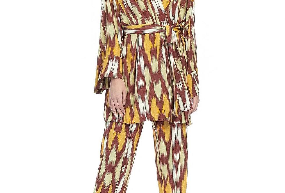 Vestido Kimono Ikat Animale
