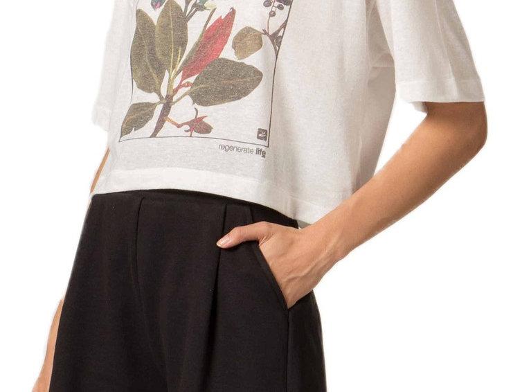 T-Shirt Cropped Big Leaf Osklen