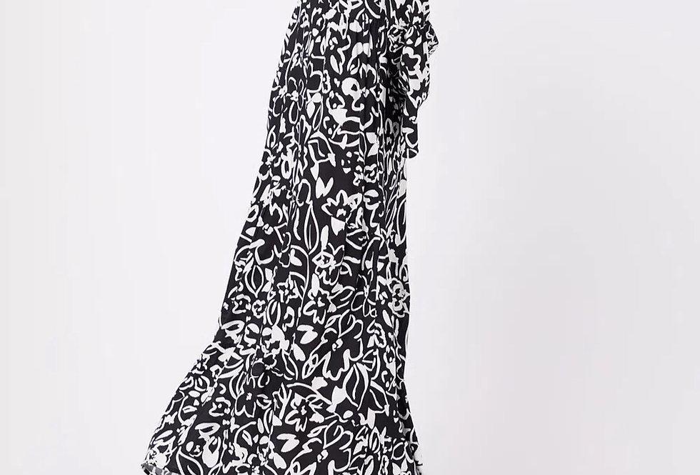 Vestido Longo Mullet Floral - FYI