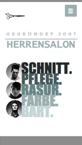 Alle Designvorlagen website templates – Herrenfriseur