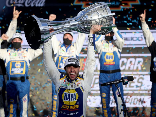 NASCAR Sports Update: Elliott wins 1st Cup Title, Johnson says goodbye (11/8/20) By: Josh Scott