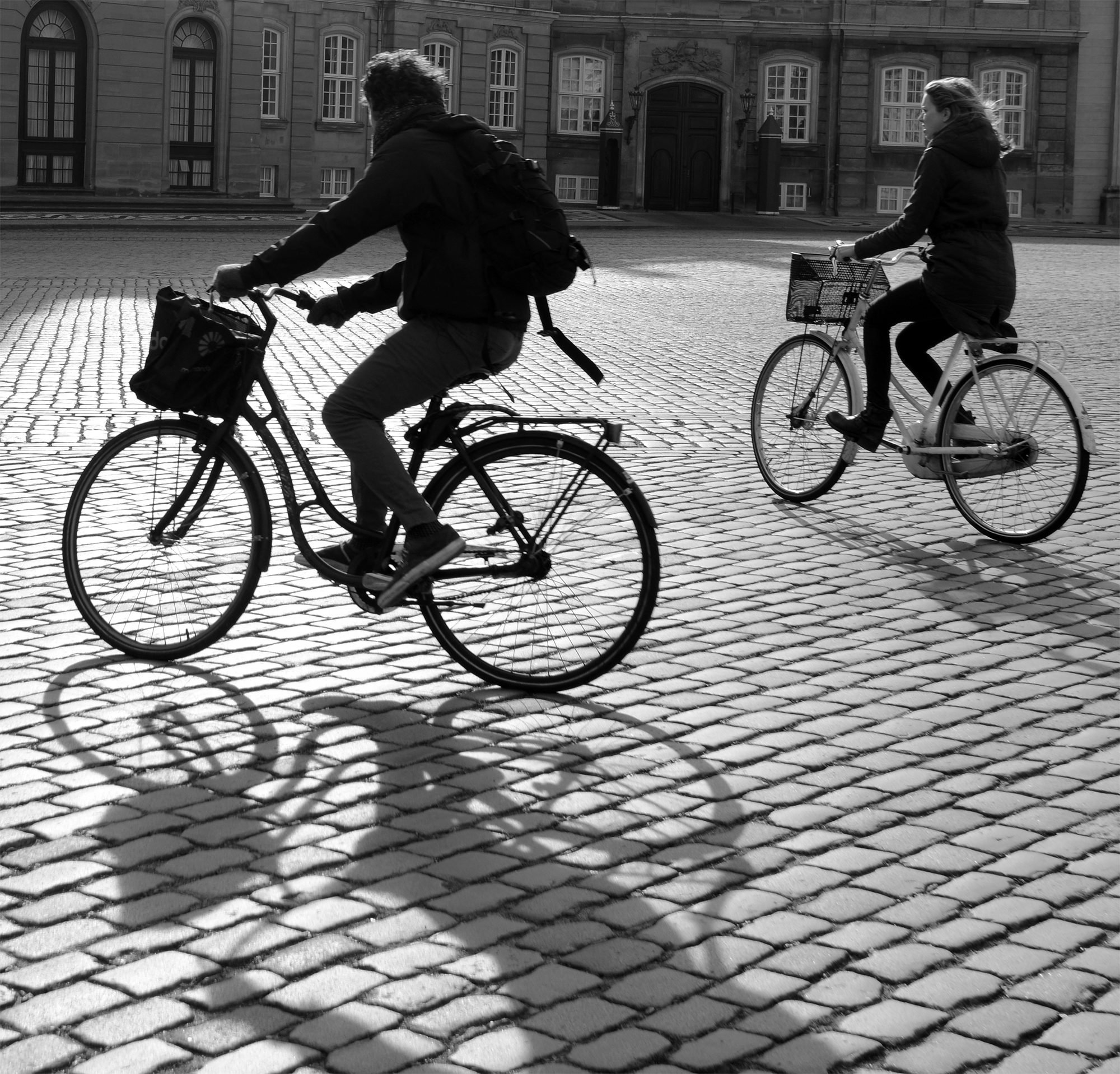 Copenhagen - bike riding at Amelianborg
